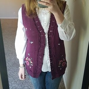 Vintage Burgundy Sweater Vest
